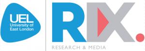 University of East London RIX Research & Media logo