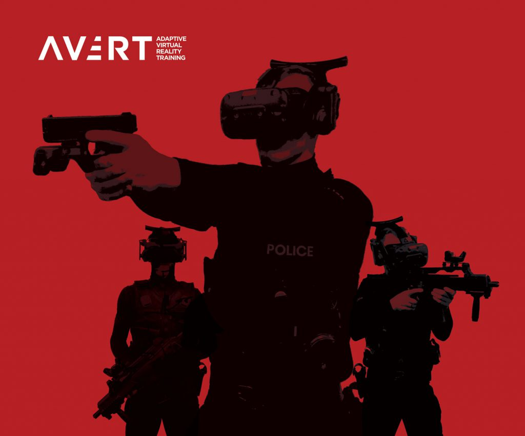 AVRT policemen with virtual reality gear on